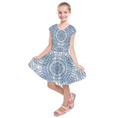 Boho Pattern Style Graphic Vector Kids  Short Sleeve Dress by Sobalvarro