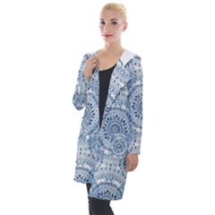 Boho Pattern Style Graphic Vector Hooded Pocket Cardigan by Sobalvarro