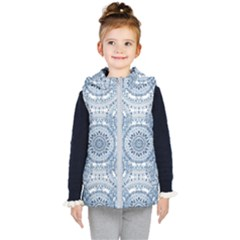 Boho Pattern Style Graphic Vector Kids  Hooded Puffer Vest by Sobalvarro