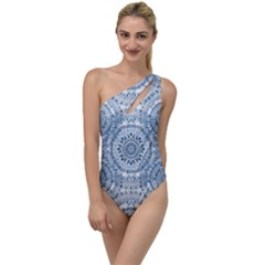 Boho Pattern Style Graphic Vector To One Side Swimsuit by Sobalvarro