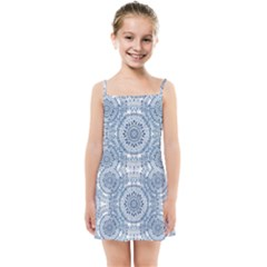 Boho Pattern Style Graphic Vector Kids  Summer Sun Dress by Sobalvarro