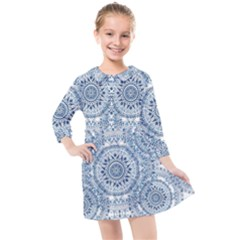 Boho Pattern Style Graphic Vector Kids  Quarter Sleeve Shirt Dress by Sobalvarro