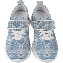 Boho Pattern Style Graphic Vector Kids  Velcro Strap Shoes by Sobalvarro