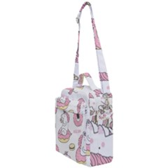 Unicorn Seamless Pattern Background Vector (1) Crossbody Day Bag