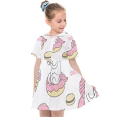 Unicorn Seamless Pattern Background Vector (1) Kids  Sailor Dress by Sobalvarro