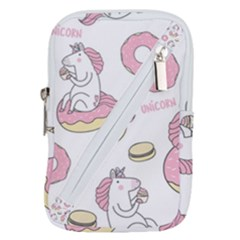 Unicorn Seamless Pattern Background Vector (1) Belt Pouch Bag (small)