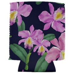 Vector Hand Drawn Orchid Flower Pattern Can Holder