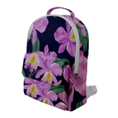 Vector Hand Drawn Orchid Flower Pattern Flap Pocket Backpack (large) by Sobalvarro