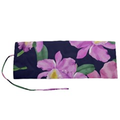 Vector Hand Drawn Orchid Flower Pattern Roll Up Canvas Pencil Holder (s) by Sobalvarro