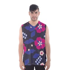 Vector Seamless Flower And Leaves Pattern Men s Sportswear