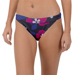 Vector Seamless Flower And Leaves Pattern Band Bikini Bottom