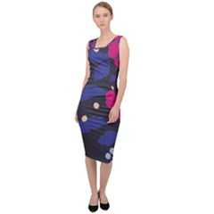 Vector Seamless Flower And Leaves Pattern Sleeveless Pencil Dress by Sobalvarro