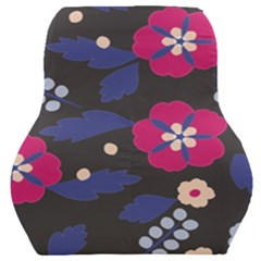 Vector Seamless Flower And Leaves Pattern Car Seat Back Cushion  by Sobalvarro