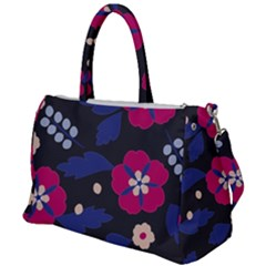 Vector Seamless Flower And Leaves Pattern Duffel Travel Bag by Sobalvarro