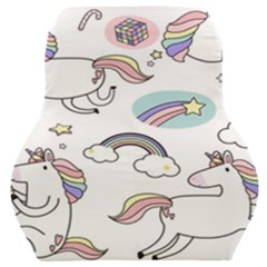 Cute Unicorns With Magical Elements Vector Car Seat Back Cushion  by Sobalvarro