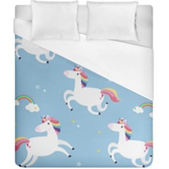 Unicorn Seamless Pattern Background Vector (2) Duvet Cover (california King Size) by Sobalvarro