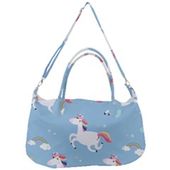 Unicorn Seamless Pattern Background Vector (2) Removal Strap Handbag by Sobalvarro