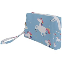 Unicorn Seamless Pattern Background Vector (2) Wristlet Pouch Bag (small) by Sobalvarro
