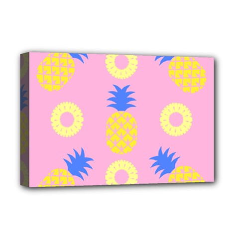 Pop Art Pineapple Seamless Pattern Vector Deluxe Canvas 18  X 12  (stretched) by Sobalvarro