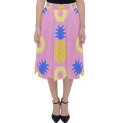 Pop Art Pineapple Seamless Pattern Vector Classic Midi Skirt