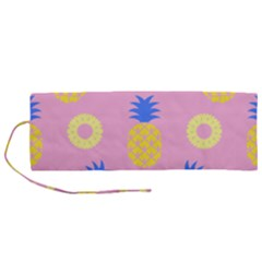 Pop Art Pineapple Seamless Pattern Vector Roll Up Canvas Pencil Holder (m) by Sobalvarro