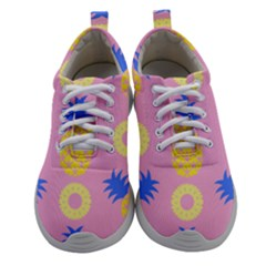Pop Art Pineapple Seamless Pattern Vector Women Athletic Shoes by Sobalvarro