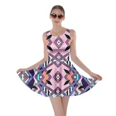 Marble Texture Print Fashion Style Patternbank Vasare Nar Abstract Trend Style Geometric Skater Dress by Sobalvarro