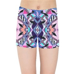 Marble Texture Print Fashion Style Patternbank Vasare Nar Abstract Trend Style Geometric Kids  Sports Shorts by Sobalvarro