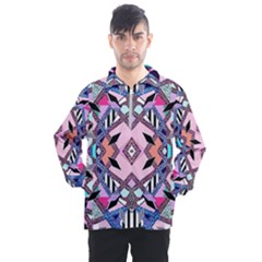 Marble Texture Print Fashion Style Patternbank Vasare Nar Abstract Trend Style Geometric Men s Half Zip Pullover