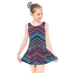 Ethnic  Kids  Skater Dress Swimsuit by Sobalvarro