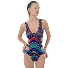 Ethnic  Side Cut Out Swimsuit