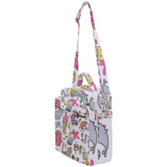 Set Kawaii Doodles Crossbody Day Bag