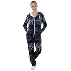 Exotic Flower Leaves Seamless Pattern Women s Tracksuit