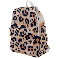 Leopard Pattern Funny Drawing Seamless Pattern Top Flap Backpack