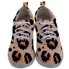 Leopard Pattern Funny Drawing Seamless Pattern Mens Athletic Shoes by Vaneshart