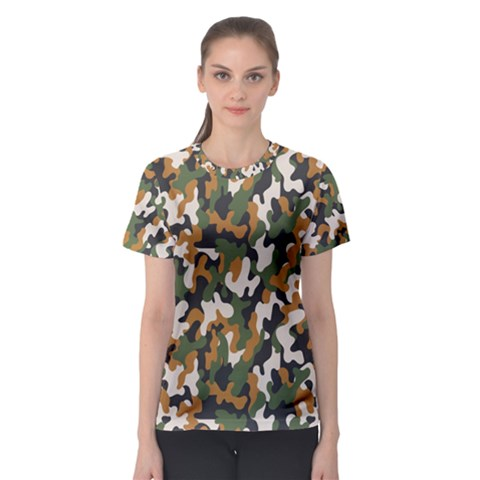 Vector Seamless Military Camouflage Pattern Seamless Vector Abstract Background Women s Sport Mesh Tee by Vaneshart