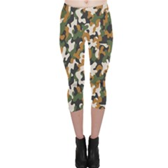 Vector Seamless Military Camouflage Pattern Seamless Vector Abstract Background Capri Leggings