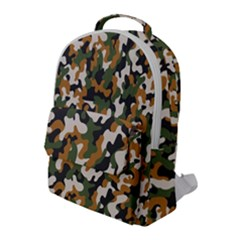 Vector Seamless Military Camouflage Pattern Seamless Vector Abstract Background Flap Pocket Backpack (large)