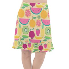 Seamless Pattern With Fruit Vector Illustrations Gift Wrap Design Fishtail Chiffon Skirt