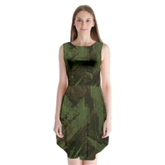Camouflage Brush Strokes Background Sleeveless Chiffon Dress