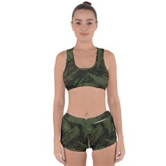Camouflage Brush Strokes Background Racerback Boyleg Bikini Set