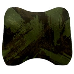 Camouflage Brush Strokes Background Velour Head Support Cushion