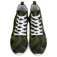 Camouflage Brush Strokes Background Men s Lightweight High Top Sneakers