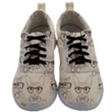Seamless Pattern Hand Drawn Cats With Hipster Accessories Mens Athletic Shoes View1