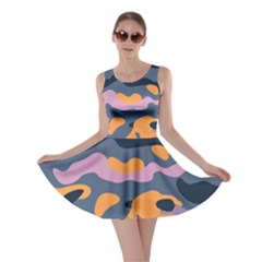 Camouflage Background Textile Uniform Seamless Pattern Skater Dress