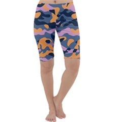 Camouflage Background Textile Uniform Seamless Pattern Cropped Leggings