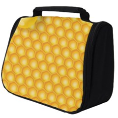 Abstract Honeycomb Background With Realistic Transparent Honey Drop Full Print Travel Pouch (big)