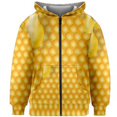 Abstract Honeycomb Background With Realistic Transparent Honey Drop Kids  Zipper Hoodie Without Drawstring by Vaneshart
