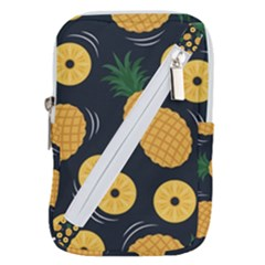 Seamless Pattern Pineapple Pattern Belt Pouch Bag (large)