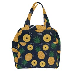 Seamless Pattern Pineapple Pattern Boxy Hand Bag